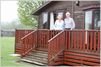 Peter and Freda White staying at Falcon Lodge